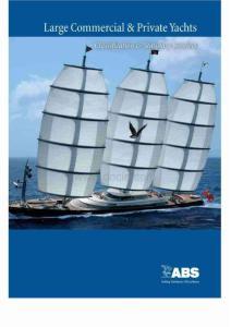ABS 游艇规范