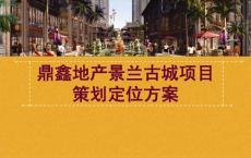 2011.05.25云南西双版纳州鼎鑫地产景兰古城项目策划定位方案94p