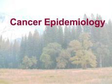 肿瘤流行病学