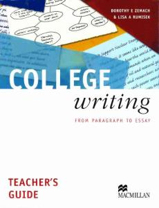 Dorothy Zemach:College Writing-Teacher_´s Book