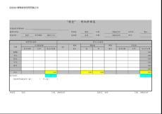 审计会计科目统计表格模版式
