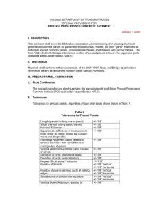 SP for Precast Prestressed Concrete Pavement PPCP 1-7-09