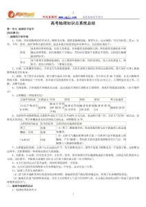 高考地理知识点系统总结【马相中】