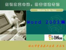 Word2003入门教程.ppt
