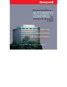 Engineering Manual of Automatic Control for Commercial Buildings Heating Ventilation Air Conditioning