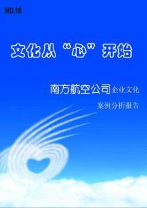 中国南方航空企业文化案例分析