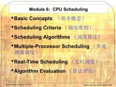 Module 6 CPU Scheduling--[ppt]