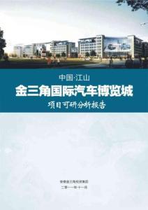 中国江山金三角国际汽车博览城项目可研分析报告61P