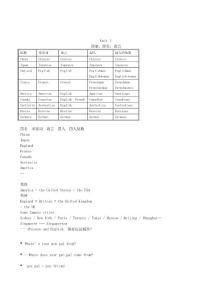 2010-2011英语新目标七年级下册语法等重点复习整理