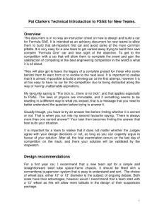 FSAE初学者手册