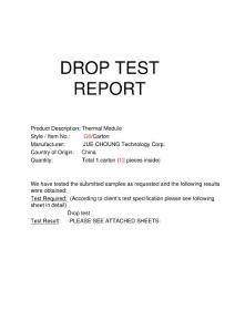DROP TEST REPORT