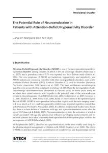 The role of neuroendocrine and its responses to psychostimulants in patients with attention deficit hyperactivity disorder