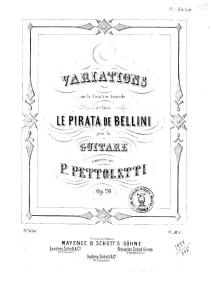 45463- P97218-Op. 26. Variations sur la Cavatine favorite ... Le Pirata de Bellini ...