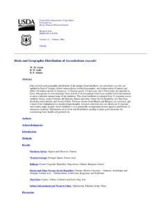 Hosts and geographic distribution of Arceuthobium oxycedri主机和云杉oxycedri地理分布