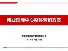 2013伟业国际中心整体营销方案221P