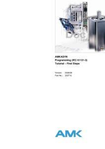 AMK伺服培训教程 编程软件入门手册