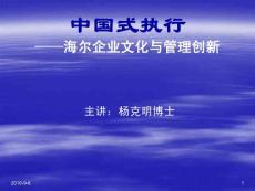 中国式执行-海尔企业文化与管理创新