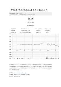 中国脐带血库股票走势图及公司基本情况
