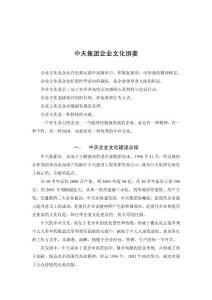 中天集团企业文化建设纲要(初稿)