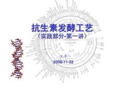抗生素发酵工艺(讲稿)(原稿)