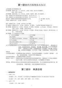 执业中药师之中药鉴定学复习资料(超全版)