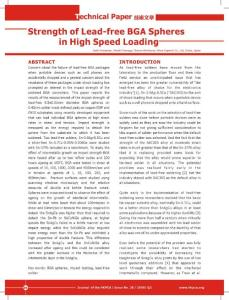 Strength of Lead-free BGA Spheres in High Speed Loading