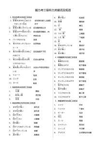N3词汇+语法