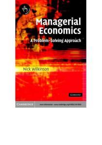 《管理经济学》英文版