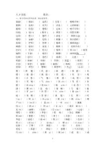 语文版八年级下册总复习题目2