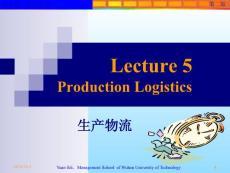 Lecture 5 Production Logistics - 20090301002720