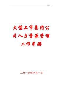 大型上市集团公司人力资源管理工作手册【含115条业务规范流程,非常经典】12