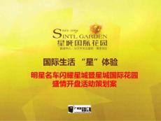 广州市明星名车闪耀星城暨星城国际花园盛情开盘活动策划方案