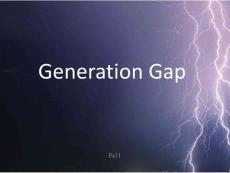 generation gap(代沟)英文ppt