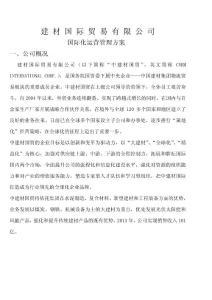 建材国际贸易有限公司国际化运营管理方案