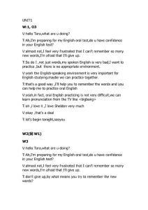 大学英语精读5 口语对话(课前warm-up 课后oral practice )