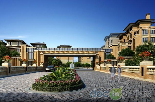 方案深圳简欧风格低多层别墅及花园洋房建筑设计方案文本