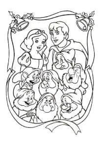 迪斯尼7公主涂色填色60张_整理a4打印版