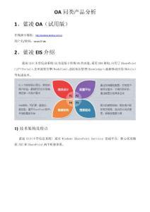 OA同类产品分析_蓝凌