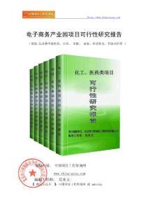 电子商务产业园项目可行性研究报告(范兆文-18810044308)