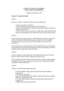 Law on National Minorities Cultural Autonomy  1993 (amended :法律对少数民族文化自治 1993(修订