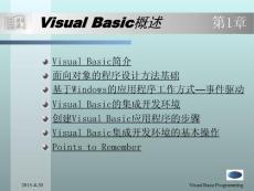 visual basic概述 第1章[宝典]