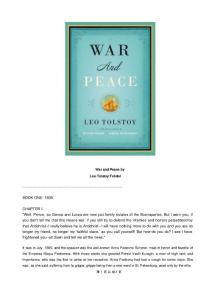 【英文原版小说】War and Peace [战争与和平]