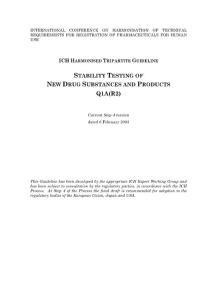 《ICH三方协调技术原则》技术资料大全