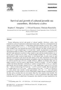 Survival and growth of c..
