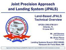 【精品】Joint Precision Approach and Landing System (JPALS)2011(学习资料)