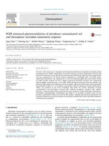 [PDF] PGPR enhanced phytoremediation of petroleum contaminated soil and rhizosphere microbial community response