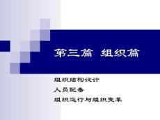 管理学原理(组织篇)(论文资料) 第三篇  组织篇