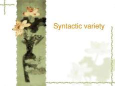 syntactic variety考研英语新西方指点班教材[整理版]