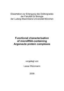 microRNAs 生物作用