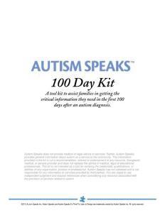 100 Day Kit - Autism Speaks